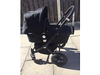 Limited edition all black bugaboo cameleon travel system