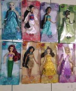 Authentic Genuine Disney Collectible Set of 8 Disney Dolls