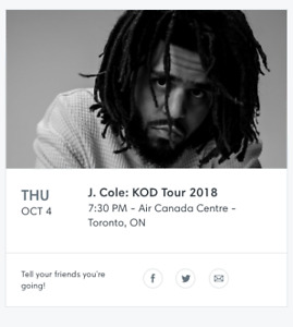 Selling JCOLE TICKETS