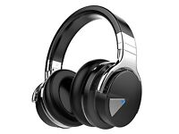COWIN E-7 Active Noise Cancelling Bluetooth Headphones Wireless with Mic Headset, Volume Control