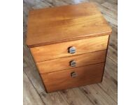 Vintage Teak Chest of Three Drawers by Stag