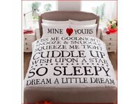 'Mine & Yours' Duvet Sets Brand new !! INTERNET SPECIAL !!