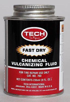Tech Fast Drying Vulcanizing Cement Tyre Repair Fluid 235ml Tin