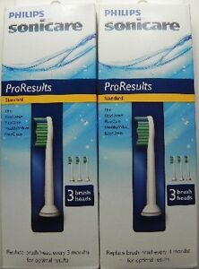 Original-Sonicare-The-Sonic-TOOTHBRUSH-ProResults-Standard-6-Brush-Heads-New
