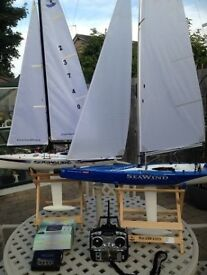 Seawind R/C Yacht and items