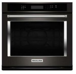 "KITCHENAID NEW KOSE500EBS 30"" SINGLE, 5.0 CU FT.,TRUE CONVECTION,SELF CLEAN, FIT SYSTEM, SINGLE WALL OVEN(BD-1539)"