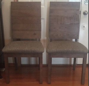 TWO BRAND NEW SOLID WOOD DINNING CHAIRS''
