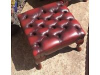 Chesterfield foot stool (delivery available)
