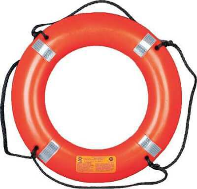 MUSTANG SURVIVAL MRD030 Ring Buoy with Reflective Tape,30 In Orange Ring Buoy