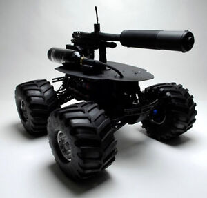 Grineid Tactical Systems UGV teleoperated Paintball Bot.
