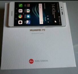 Huawei p9 white 32 gig dual camera excellent condition in box