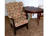 Easy Chair & occasional table