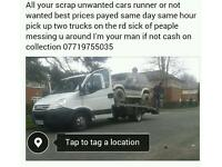 Scrap cars wanted 247 best priceis payed in full uk
