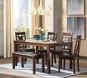 Brand New Ashley 6 Piece Dining Set With Bench - Payment Plan