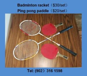 Low price for Badminto racket and tennis paddle