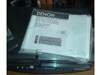 DENON personal component system with stand remote control.+ speakers with full instructions