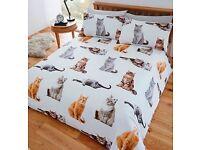 Cat Bed Duvet Set (Single £16, Double £26, Kingsize £32)