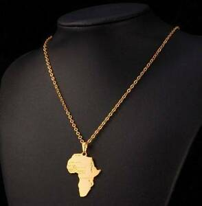 men's africa gold plated chain and pendant Ferryden Park Port Adelaide Area Preview