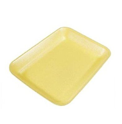 Yellow Foam Meat Tray - CKF 2Y, #2 Yellow Foam Meat Trays, Frozen Food Trays, 100-Piece