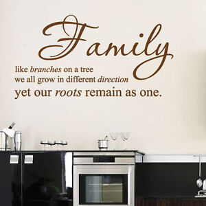 Large family bedroom wall quotes art wall stickers wall for Bedroom furniture quotes