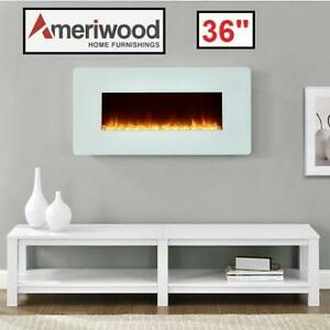 NEW ALTRA FLAME 36 FIREPLACE 1907013CACOM 251711936 WALL MOUNT W/STAND