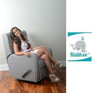 NEW* KIDILOVE ALICE GLIDER CHAIR 01881-09 211372442 LIGHT GREY HOME DECOR FURNITURE