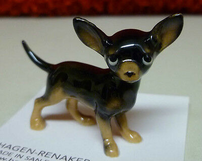 ➸ HAGEN RENAKER Dog Miniature Figurine Chihuahua Black
