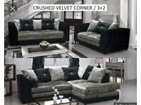 New Bella Velvet sofa collection black and silver