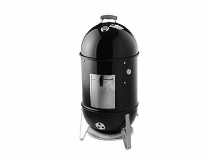 New 18-12 In. Outdoor Black Weber Smokey Mountain Cooker Bbq Smoker Grill
