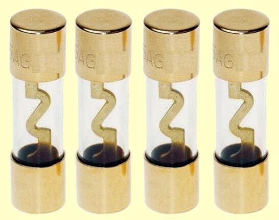 4 pcs.  ACV   AGU Sicherungen 50 Ampere  gold (innen)  30.3901-50  NEW