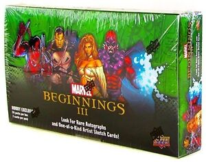 2012 Upper Deck Marvel Beginnings 3 III Hobby Box