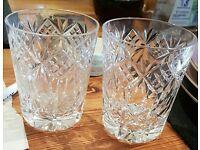 X2 crystal cut glasses