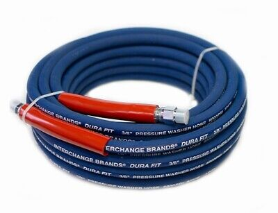 100 Ft 38 Blue Non-marking 6000psi Pressure Washer Hose