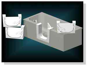 Walk-in Tub conversions / Tub to shower conversions Stratford Kitchener Area image 3