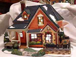 Gorgeous porcelain Christmas house for sale, can see inside!