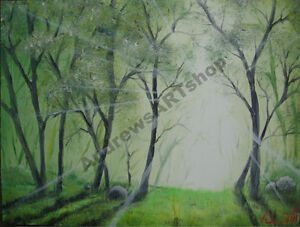 """Oil Painting """"Forest of Light"""""""