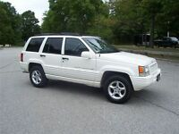 1998 Jeep Grand Cherokee 5.9 LIMITED WHITE!!! SUV, Crossover