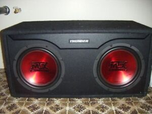 2 12 inch D class competition subs, with box.