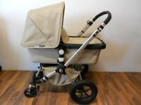Bugaboo Cameleon in sand with many extras