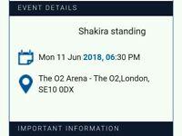 SHAKIRA LONDON 02 TICKETS