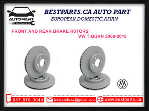 Front & Rear Brake rotors for VW Tiguan 2009-2018