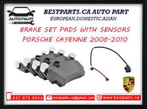 Front and Rear brake pads/ sensors Porsche Cayenne 2008-2010