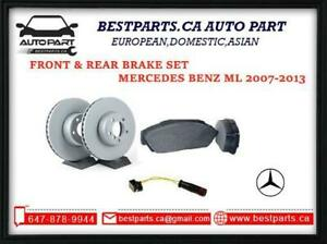 Front and Rear Brake Set for Mercedes Benz ML 2007-2013