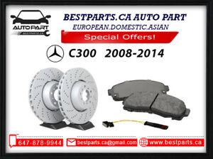 Brake set for Mercedes Benz C300 2008-2014