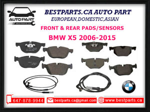 Front and Rear Brake Pads/Sensors BMW X5 2006-2015