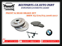 F&R brake set for BMW X5 E70, F15 2006-2017