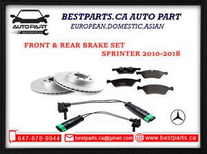 Front and  Rear Brake set Sprinter 2500/3500 2010-2018