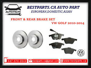 Front and Rear Brake for VW Golf 2010-2014