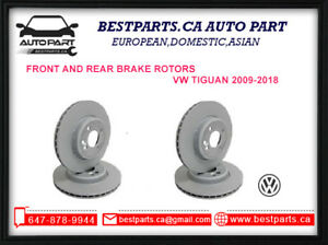 Front and Rear Brake rotors for VW Tiguan 2009-2018