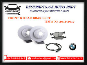 Front and rear brake set BMW X3 2011-2017